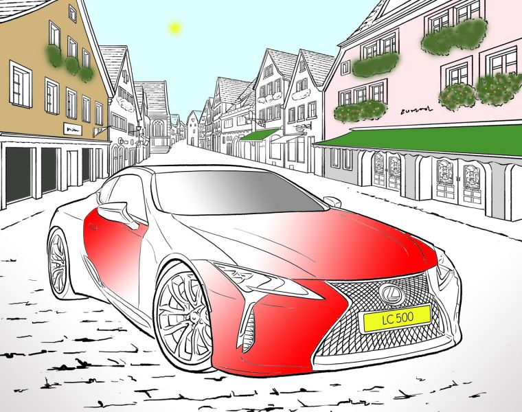 Lexus Reminds the Country How Much Fun Colouring In Can Be