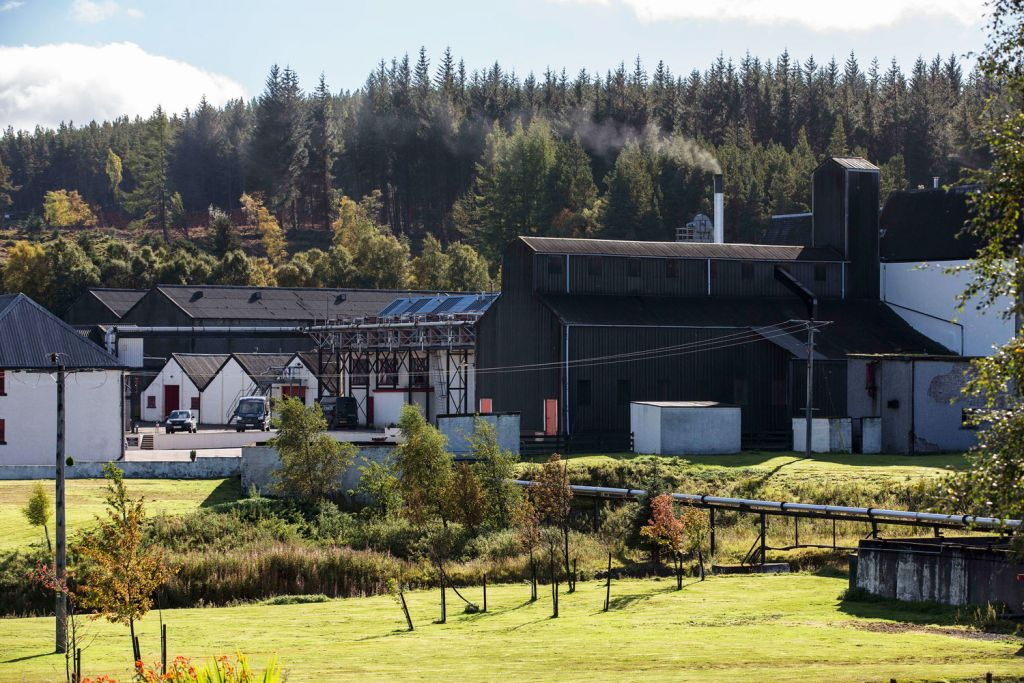 Tomatin Distillery in Scotland