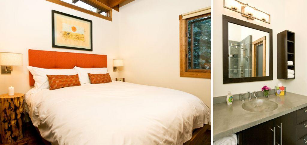 Bedroom and Bathroom Inside the Wheelhaus RoadHaus Wedge RV