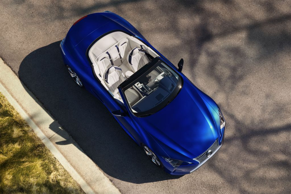 2020 Lexus LC Convertible from above