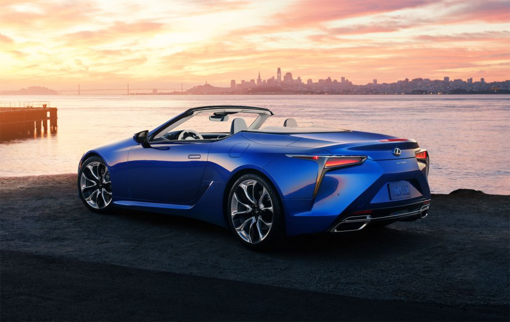 2020 Lexus LC Convertible roof down