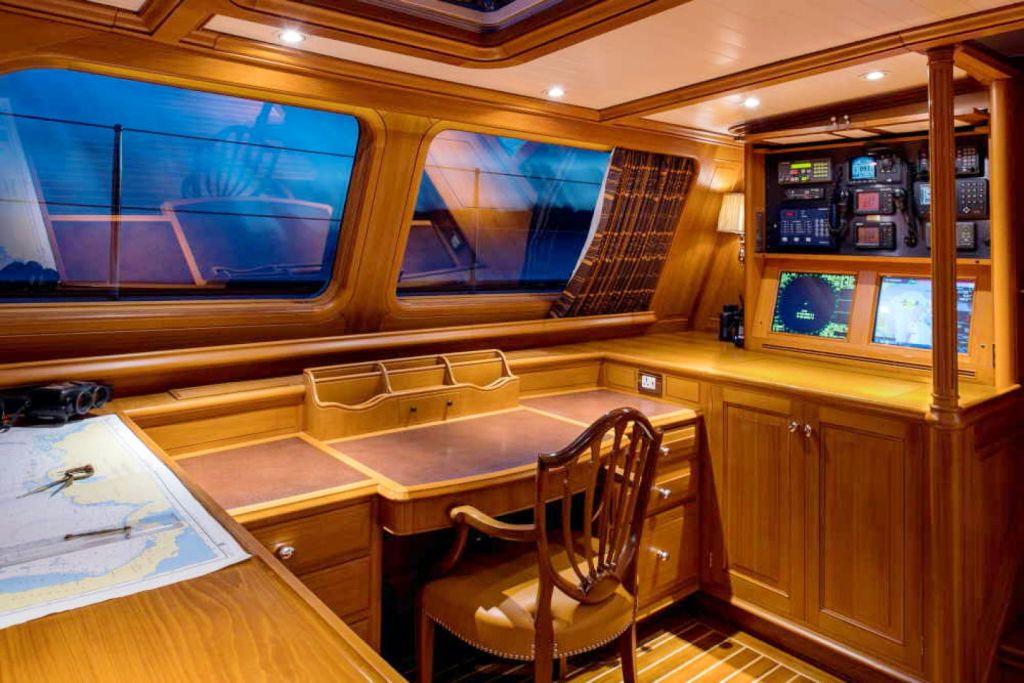 BLUE TOO sailing yacht cockpit
