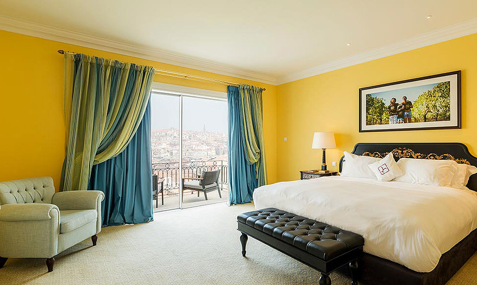 Bedroom suite at The Yeatman in Porto