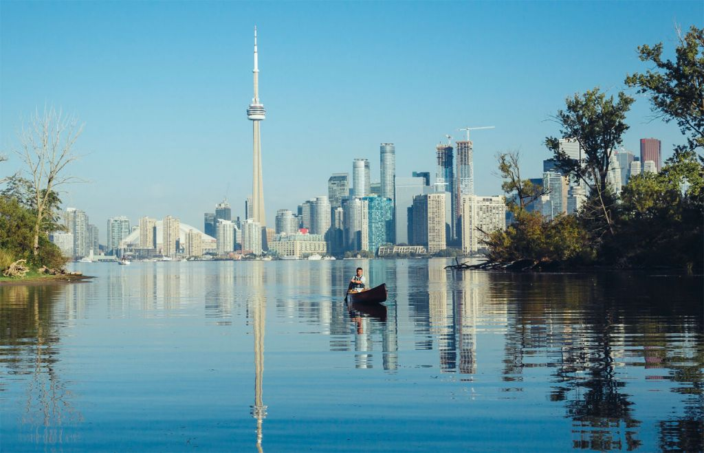 Canoeing in Toronto Canada
