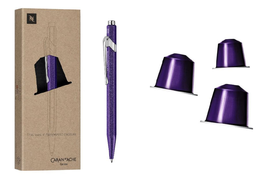 Caran d'Ache and Nespresso pen comes in environmentally-friendly packaging