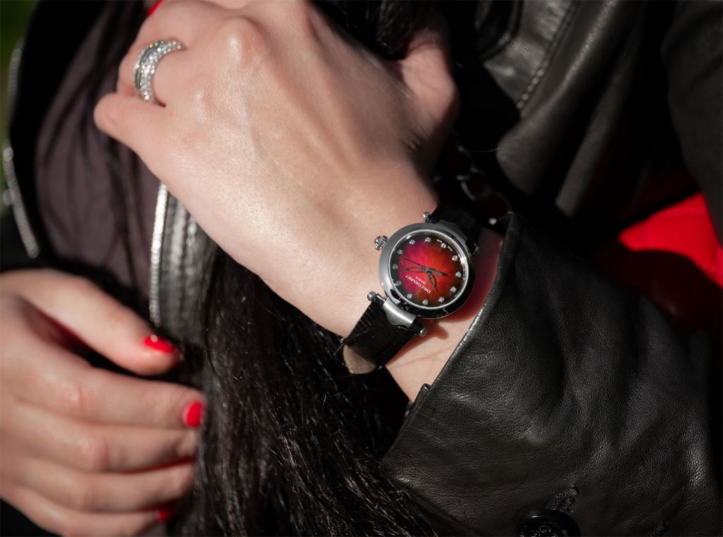 Fair Lady Lotus Red from Emile Chouriet ladies timepiece