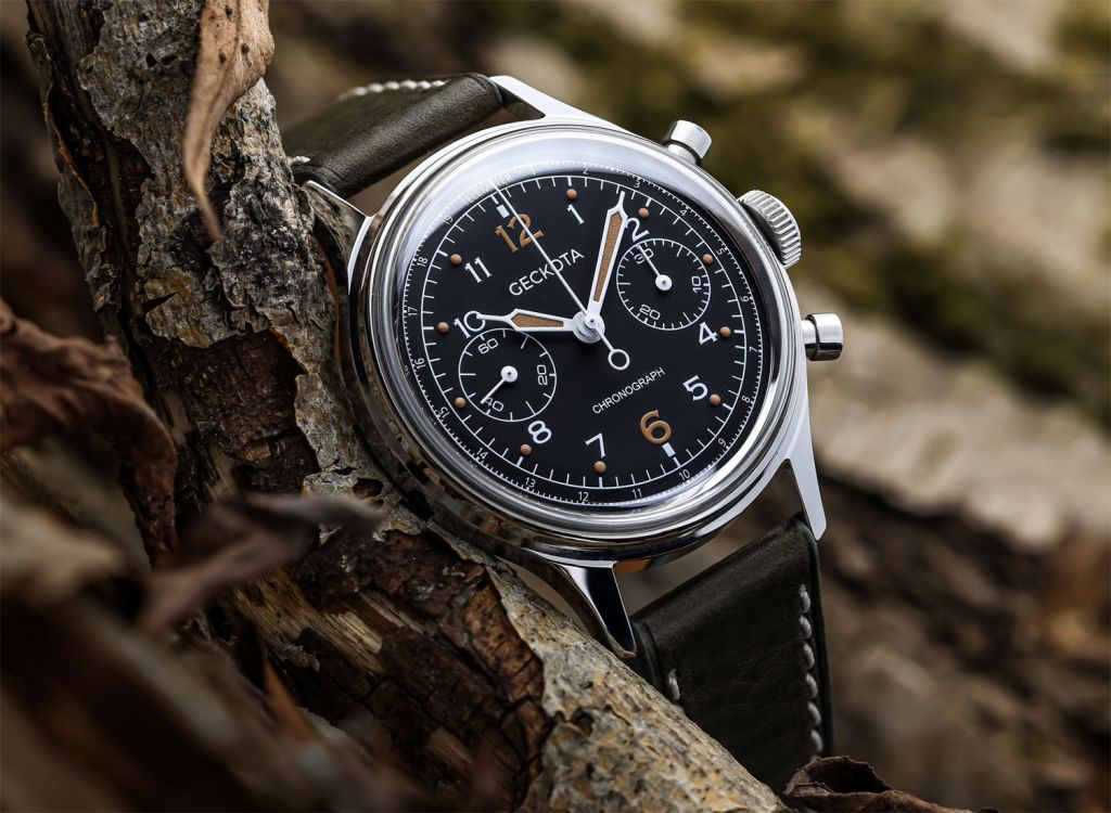 British Brand Geckota Reveals their New W-02 Vintage Military Chronograph