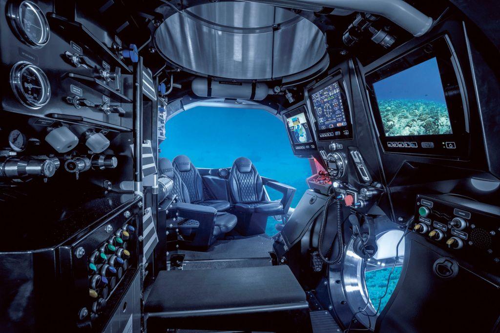 Inside the Scenic Neptune submarine