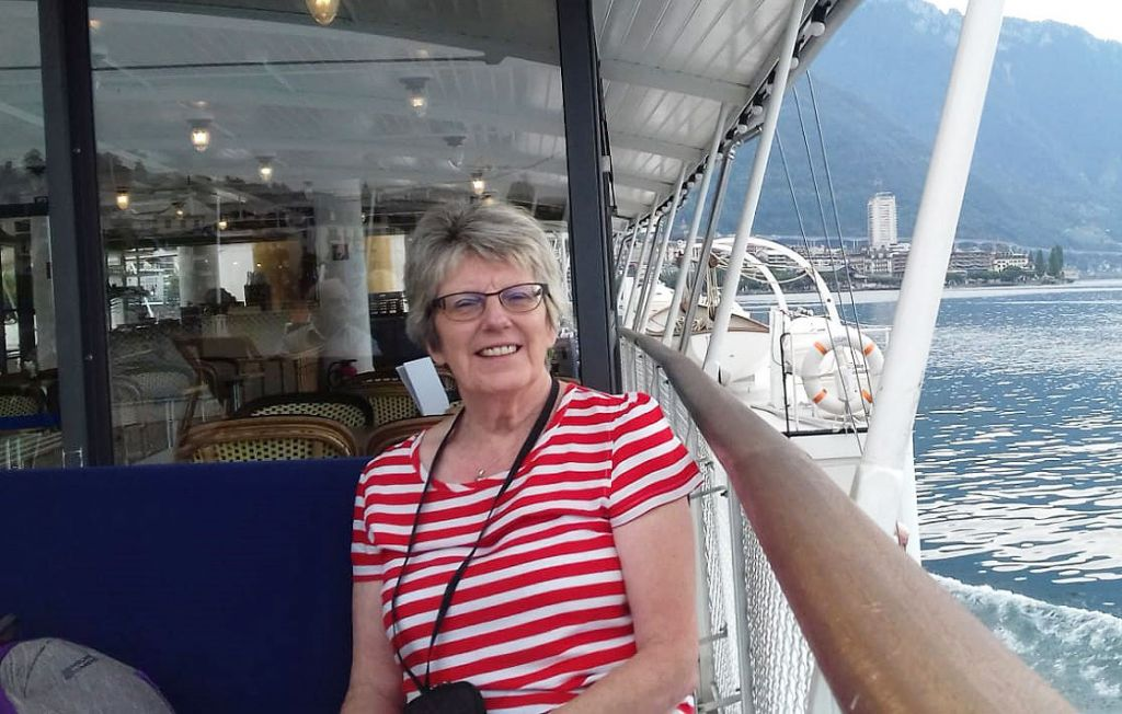 Liz Turner with Ffestiniog Travel in Switzerland in 2019