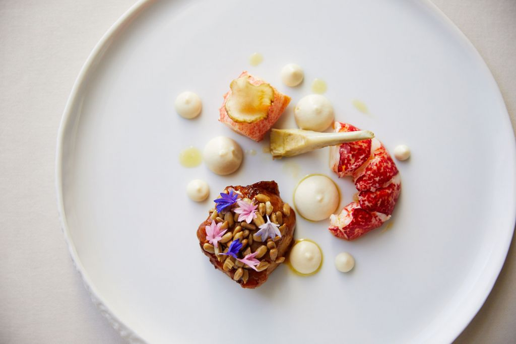 Lobster dish by Adam Smith of Restaurant Coworth Park