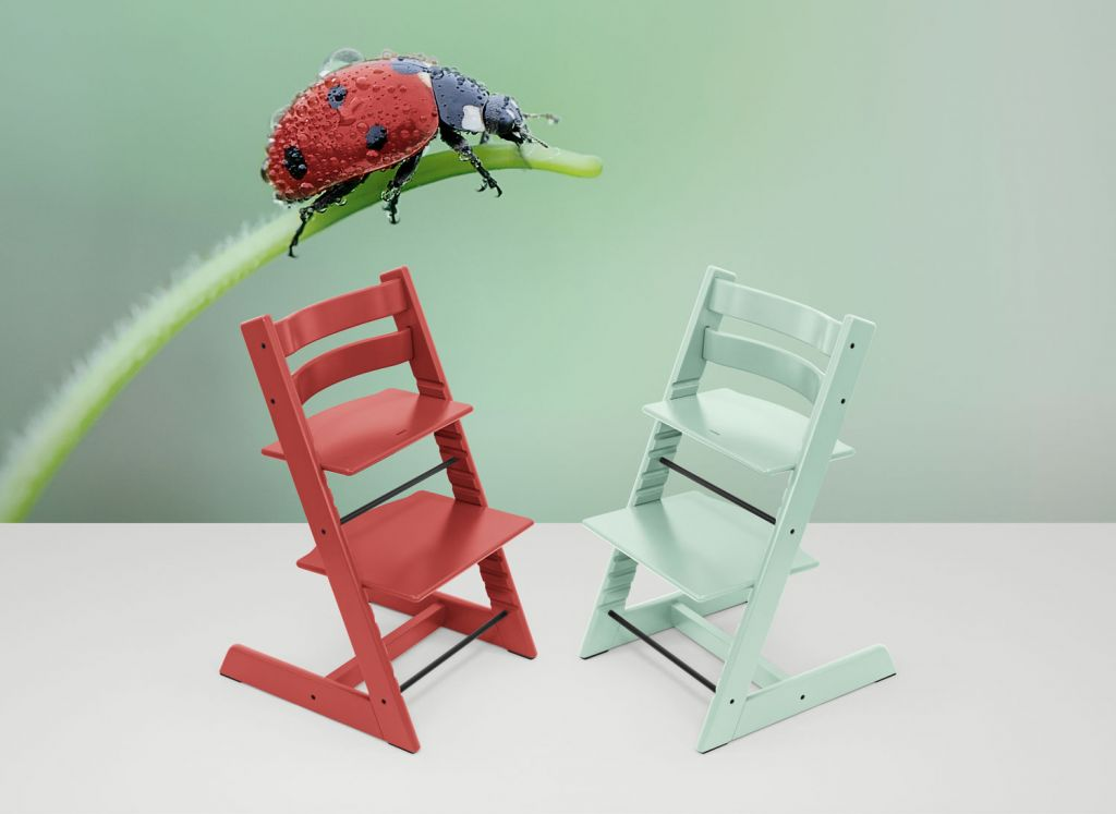 The Stokke Tripp Trapp Chair Now Available in Warm Red & Soft Mint