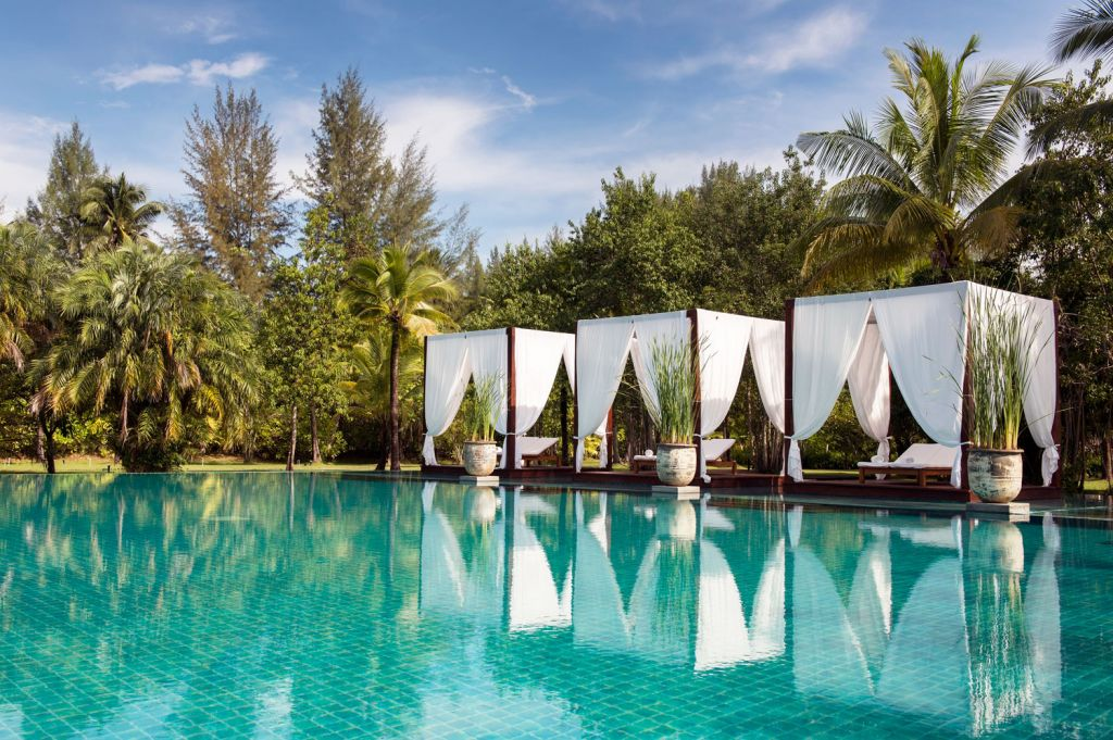 The main swimming pool at The Sarojin in Thailand
