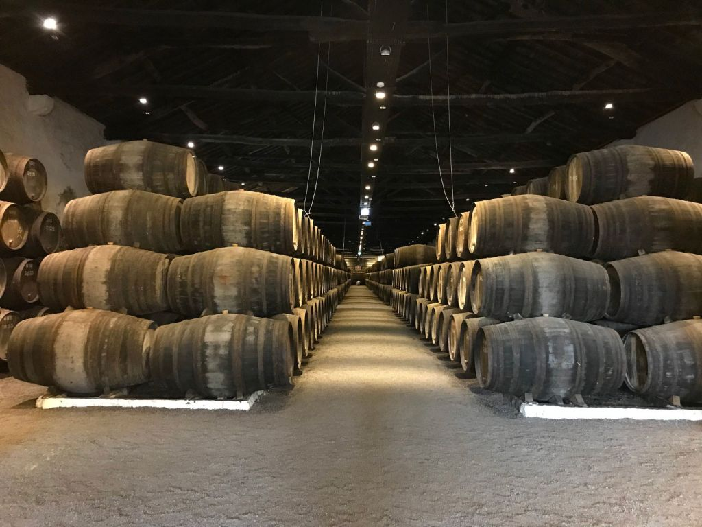 The wine cellars atThe Yeatman in Porto