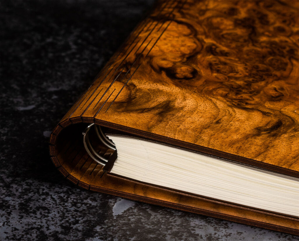 A Bark & Rock journal in Burr Walnut
