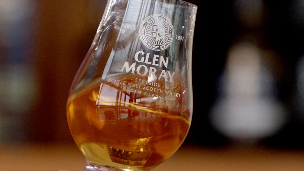 A glass of Glen Moray Whisky