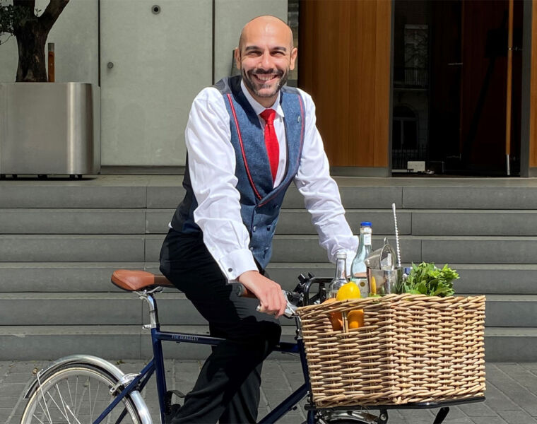The Berkeley's Blue Bar Bikes Will Bring The Cocktails to You