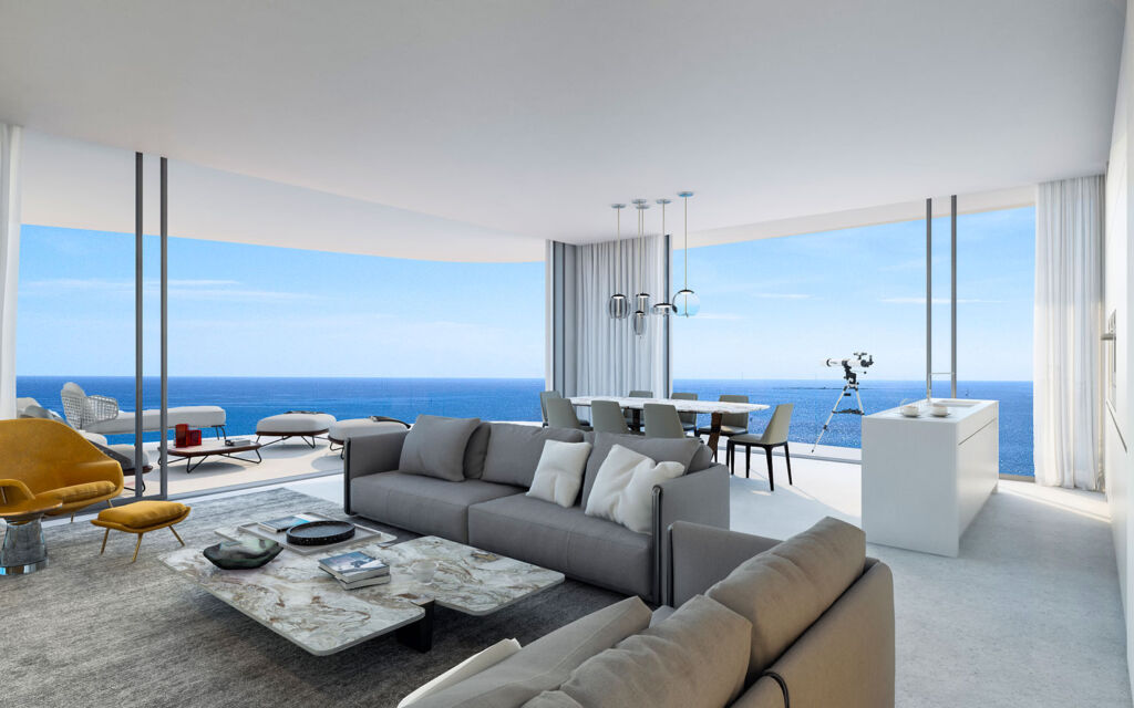 Blu Marine's beautiful sea-facing apartment interiors
