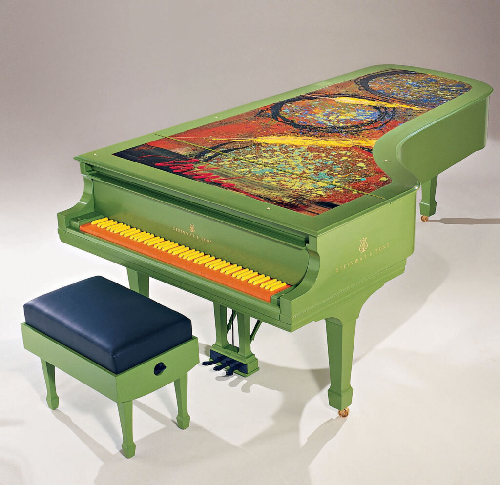 Dale Chihuly Steinway Piano