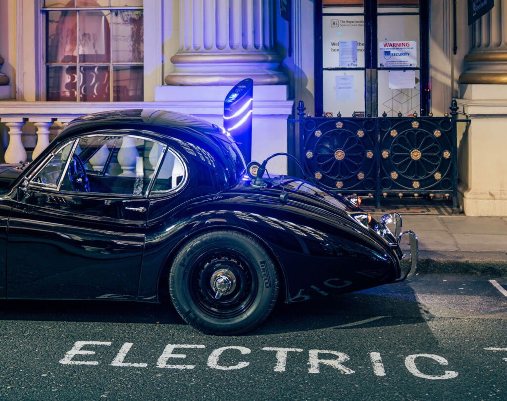 Electric car parking space in London