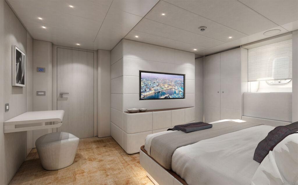 Heesen Amare II Yacht master cabin