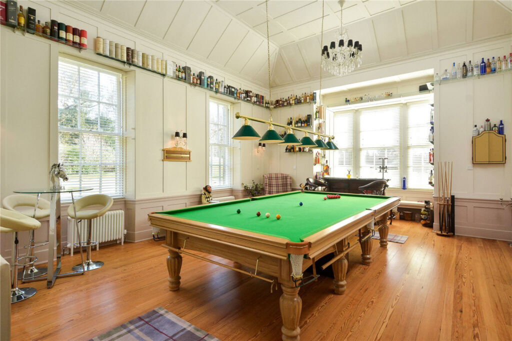 Straloch House Estate billiards room