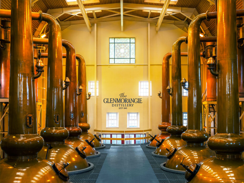The Glenmorangie Copper Stills