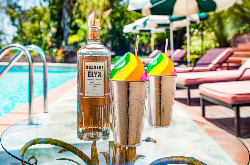 Absolut Elyx Sunshine Calling Rainbow Drinking Cup
