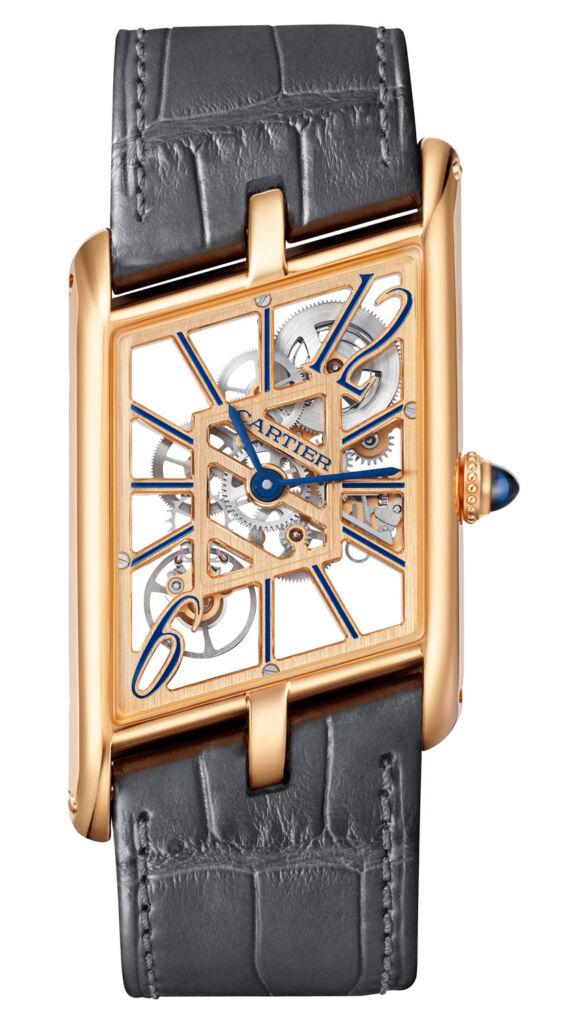 Cartier Pink Gold Tank Asymétrique