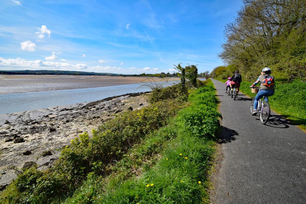 Cycling through Barnstaple on The Tarka Trail
