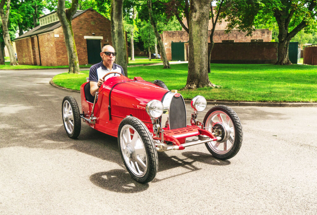 Driving the Bugatti baby II by The Little Car Company