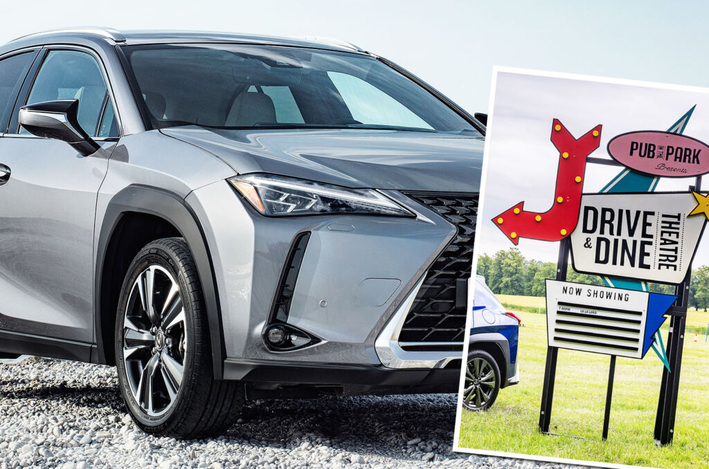 Experiencing the Lexus Drive & Dine Theatre in a UX 250h Takumi E-Four