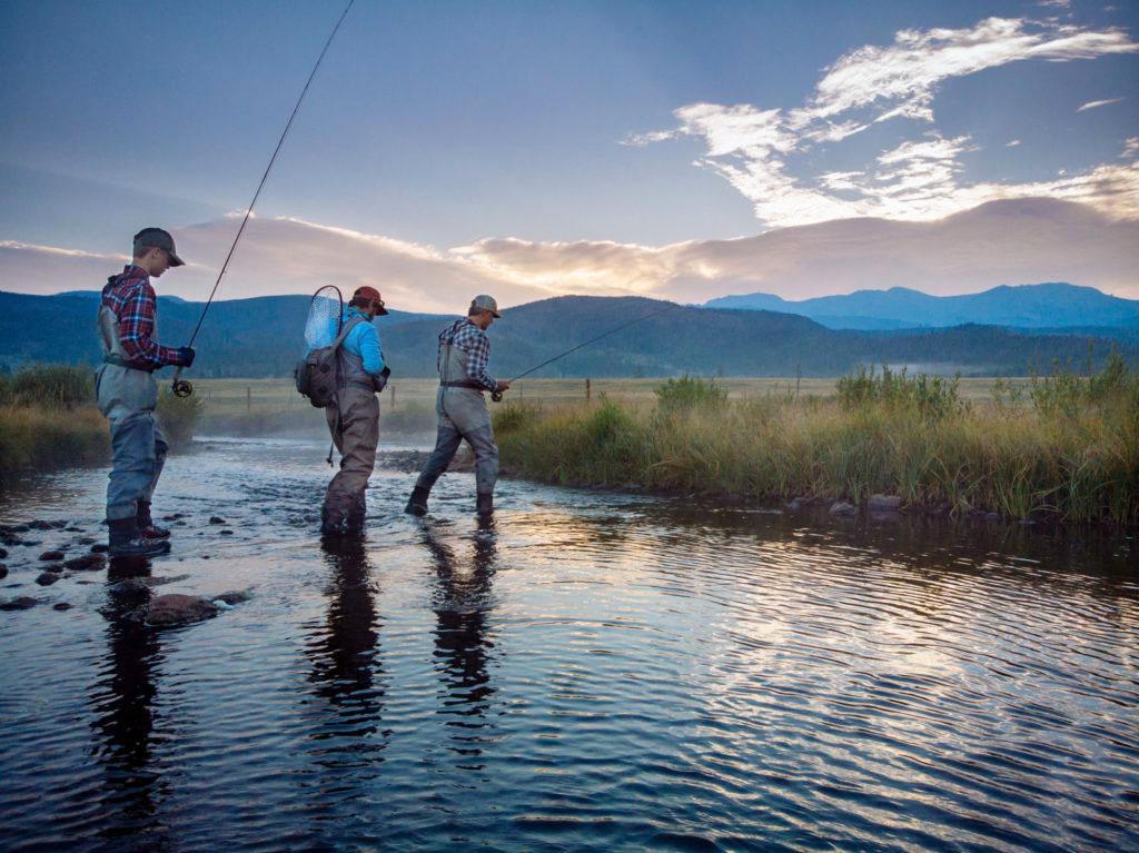 Fly fishing at the Ranches at Devil's Thumb