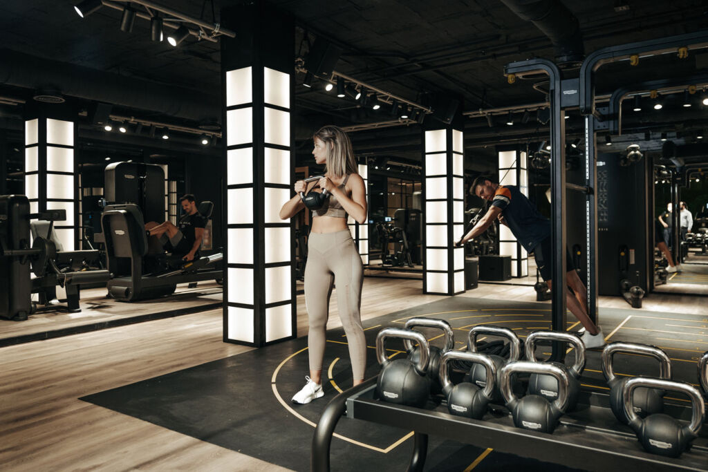 Inside the new gym at Puente Romano Beach Resort