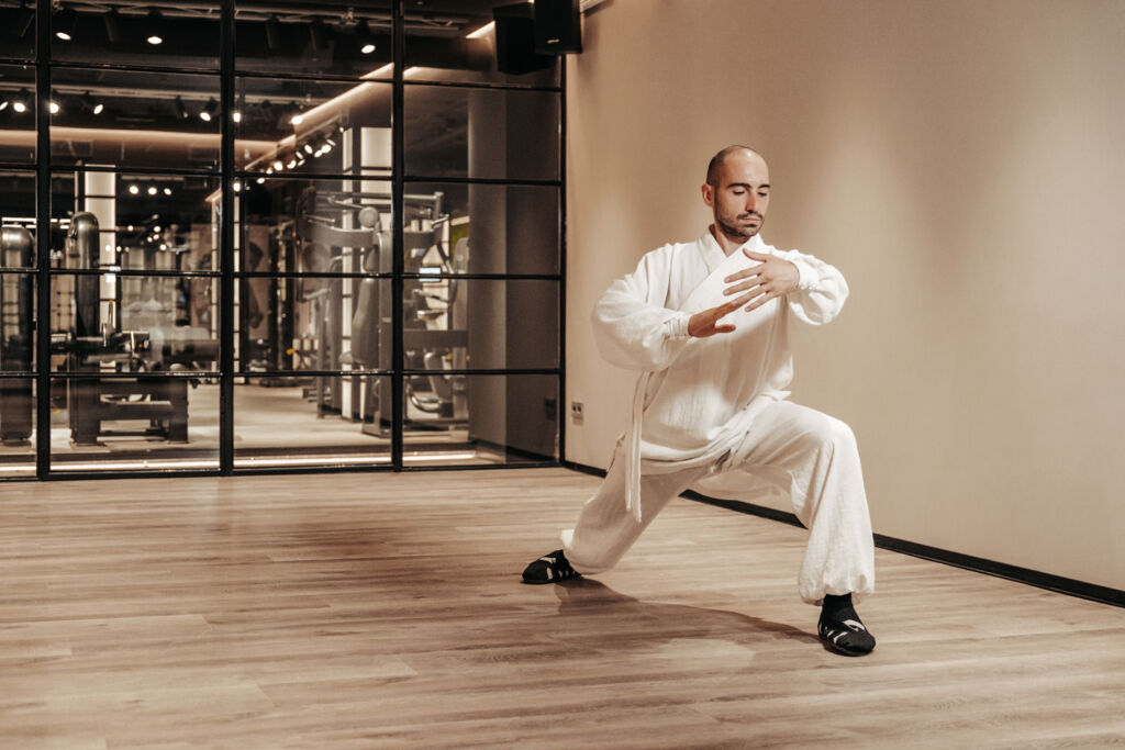 Kung Fu in the new gym at Puente Romano Beach Resort