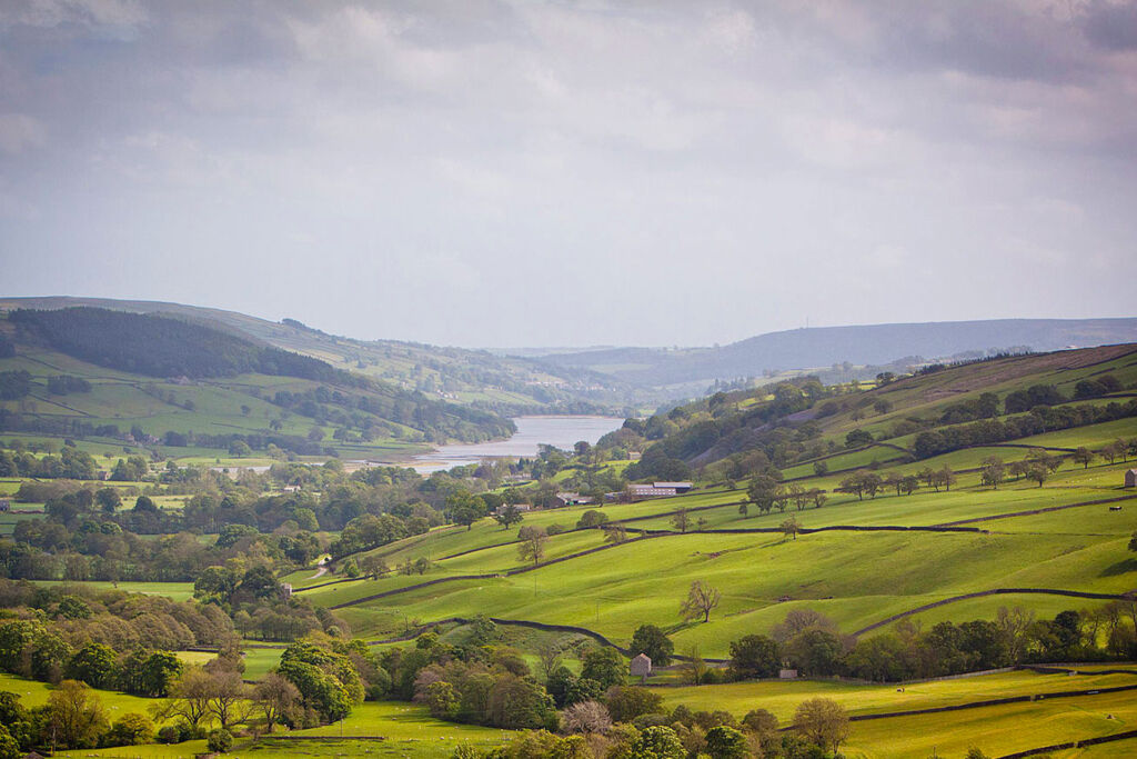 Nidderdale countryside in Yorkshire