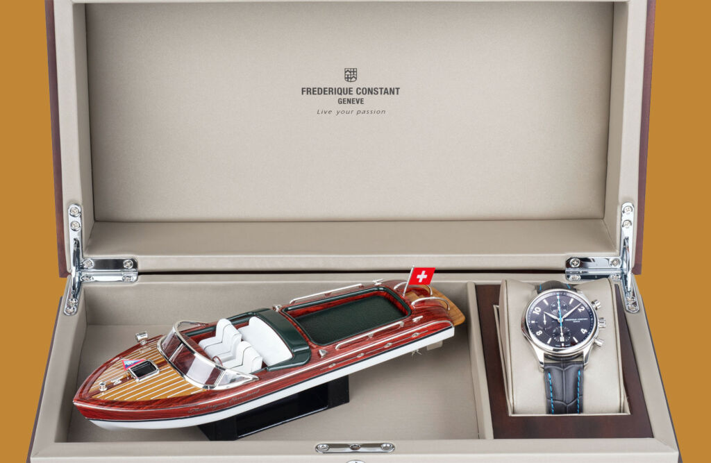 Runabout RHS Chronograph Automatic case with miniature model boat