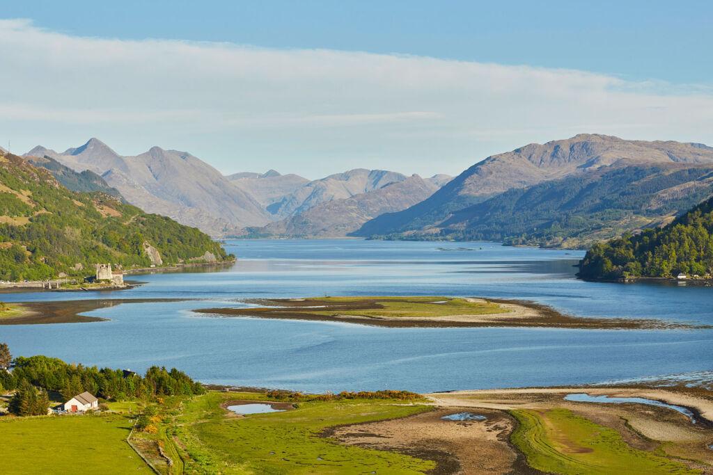 Scottish Highlands views over loch