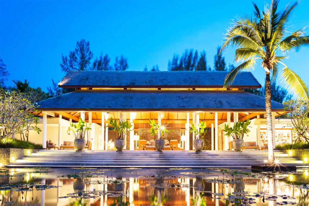 View of The Sarojin - Khao Lak Resort at night