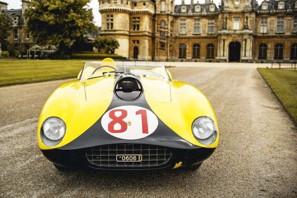 Classic Yellow Ferrari at Waddesdon Manor