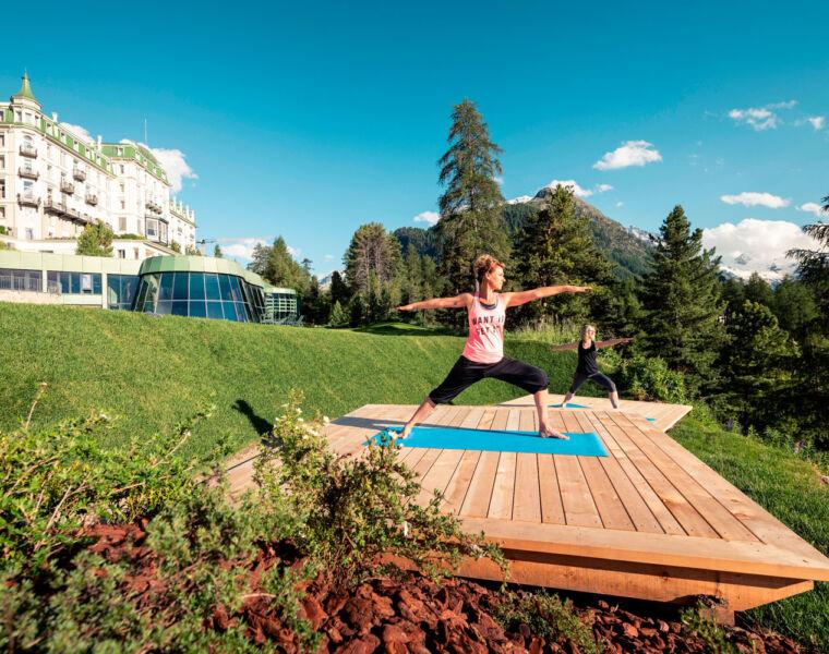Grand Hotel Kronenhof Debuts Socially-Distanced Outdoor Spa Platforms