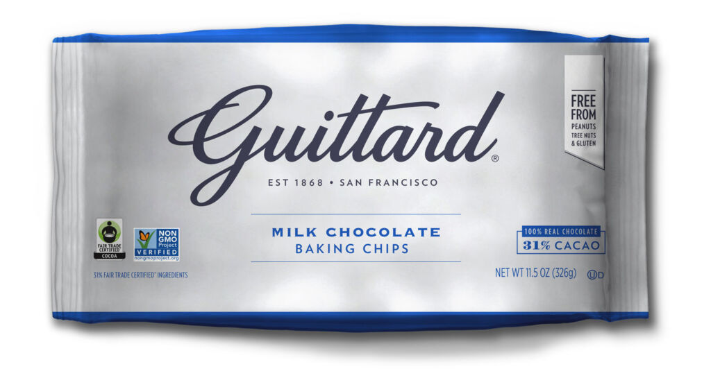 Bag of Guittard Milk Chocolate Baking Chips