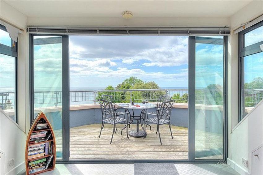 Balcony at luxury property in Dorset
