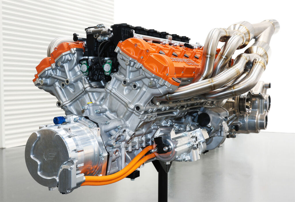 V12 3.9 litre naturally aspirated engine from Cosworth