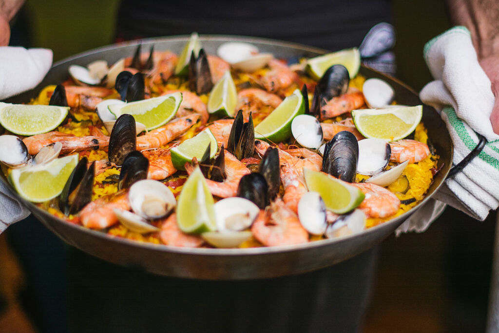 Seafood platter with mussels