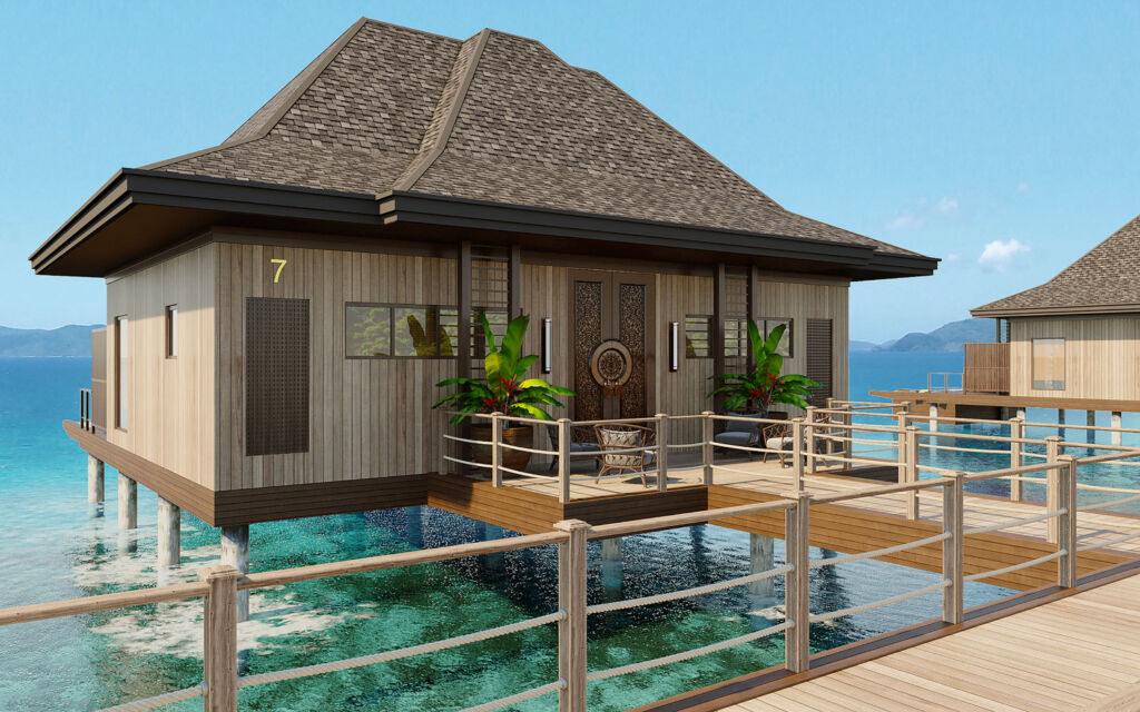Over-water villa at The Pavilions El Nido