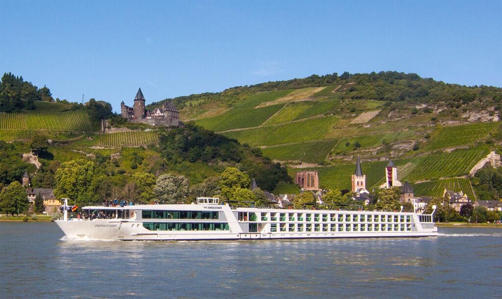Emerald Waterways Emerald Dawn cruising on the river