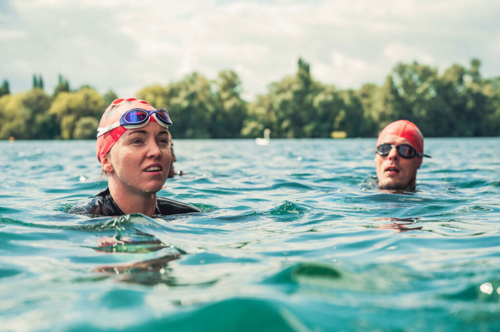 The secret behind Open Water swimming is a lot of practice!