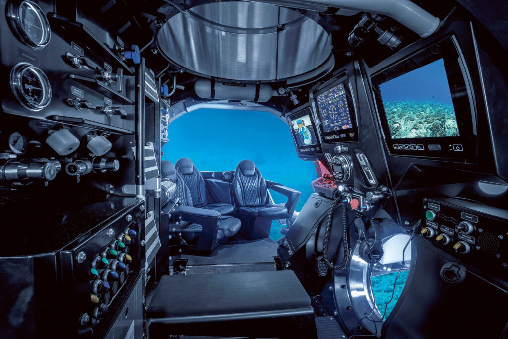 Inside the Scenic Eclipse submarine