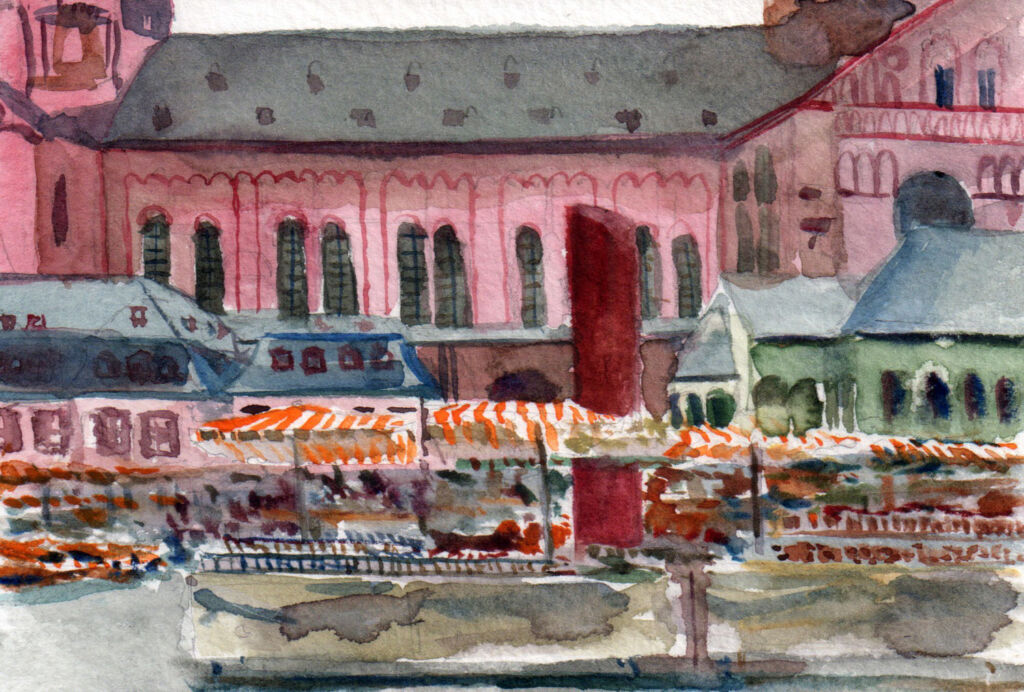 Jaques Gregoire Mainz watercolour 10 x 15 cm 2015