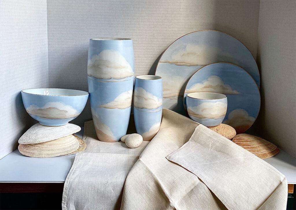 Designer Jonathan Hansen's Ciels Bleus Porcelain Collection